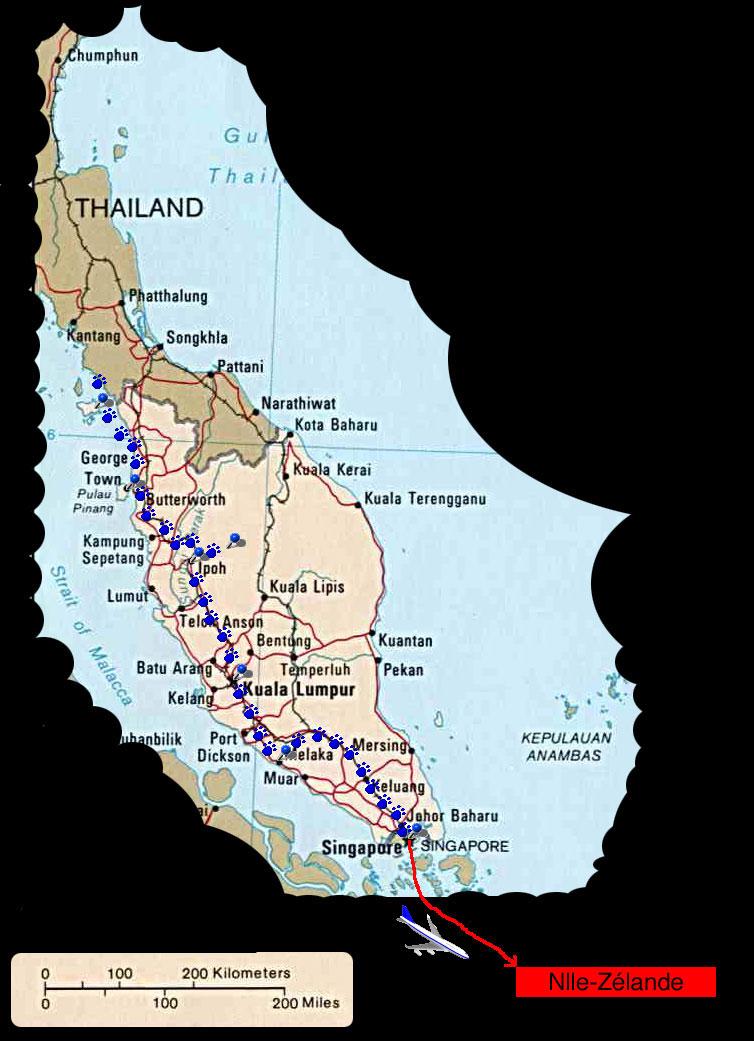 Itinéraire en malaisie etsingapour
